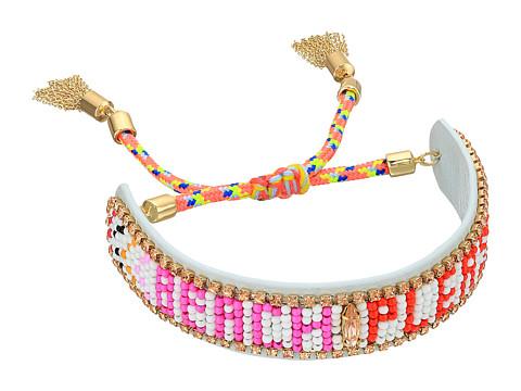 Bijuterii Femei Rebecca Minkoff Beach Please Seed Beaded Friendship Bracelet White Multi