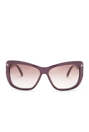 Ochelari Femei Tom Ford Womens Lindsay Modified Square Sunglasses VIOLO-BORDG