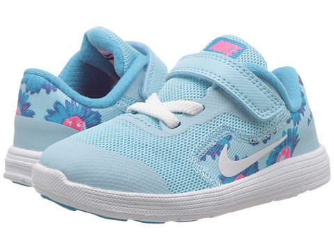 Incaltaminte Baieti Nike Revolution 3 Print (InfantToddler) Still BlueWhiteChlorine Blue