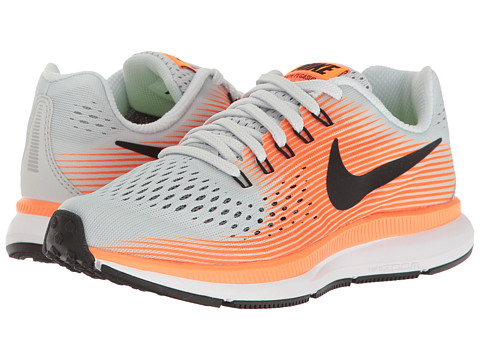 Incaltaminte Baieti Nike Zoom Pegasus 34 (Little KidBig Kid) Pure PlatinumBlackTartHyper Orange
