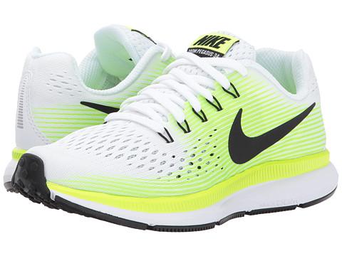 Incaltaminte Baieti Nike Zoom Pegasus 34 (Little KidBig Kid) WhiteBlackVoltGhost Green