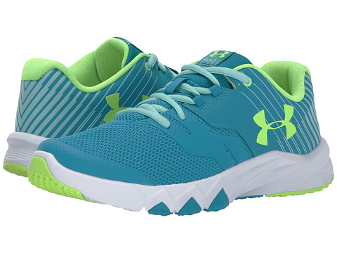 Incaltaminte Fete Under Armour UA GGS Primed 2 (Big Kid) Blue ShiftWhiteQuirky Lime