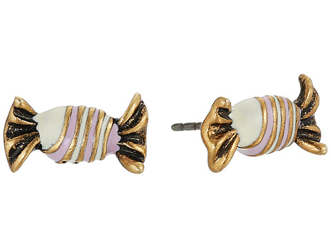 Accesorii Femei Marc Jacobs Striped Candy Studs Earrings Antique Gold