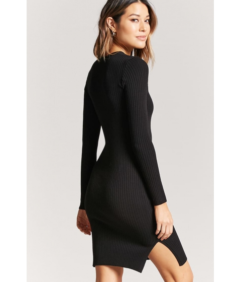 Imbracaminte Femei Forever21 Ribbed Knit Bodycon Midi Dress BLACK