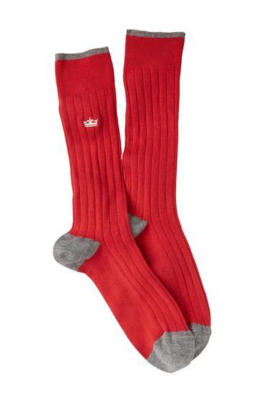 Accesorii Barbati Peter Millar Crown Crew Socks 025 RED