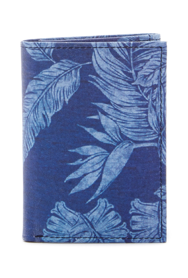 Accesorii Barbati Tommy Bahama Tropical Floral Print Trifold Wallet DENIM