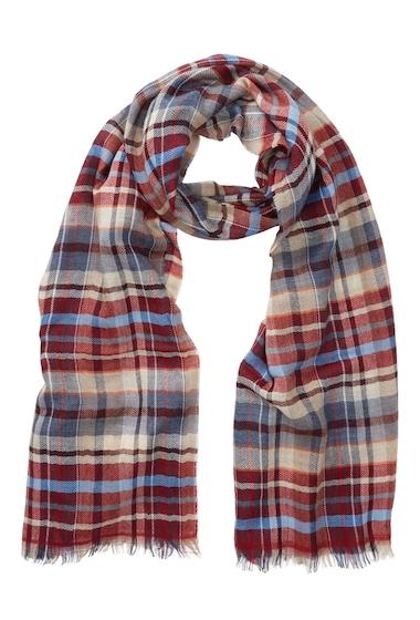 Accesorii Barbati Tommy Bahama Plaid Print Wool Blend Wrap Scarf BURGUNDY