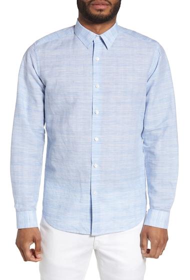 Imbracaminte Barbati Theory Sylvain Dashed Trim Fit Shirt CLEAR BLUE MULTI