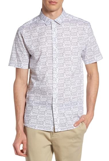 Imbracaminte Barbati TOPMAN Fox Print Shirt WHITE MULTI