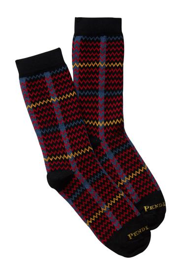Accesorii Femei Pendleton Plaid Crew Socks BLACK
