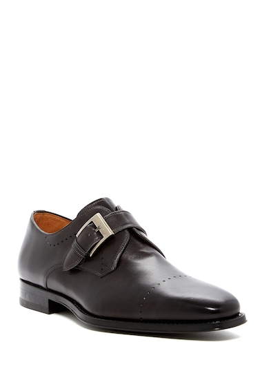 Incaltaminte Barbati Magnanni Carey Leather Monk Loafer GREY