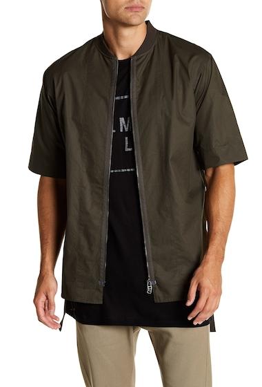 Imbracaminte Barbati Helmut Lang Zip Front Short Sleeve Shirt TRKSH TBCO