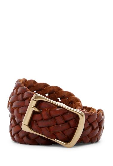 Accesorii Barbati Frye Braided Leather Belt COGNAC