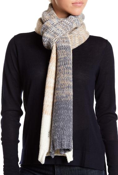 Accesorii Femei Frye Ombre Virgin Wool Blend Scarf GREY-CAMEL