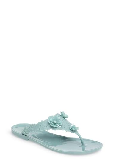 Incaltaminte Femei Badgley Mischka Bali Jelly Flip Flop BLUE RADNC