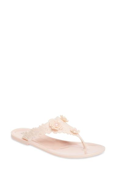 Incaltaminte Femei Badgley Mischka Bali Jelly Flip Flop LIGHTPINK