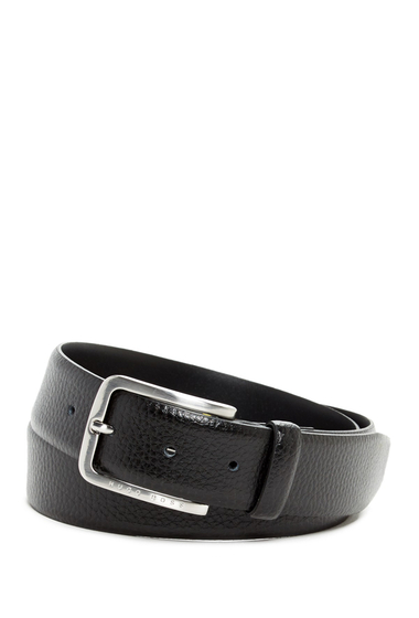 Accesorii Barbati HUGO BOSS Pebbled Leather Belt BLK