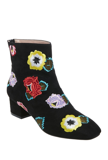 Incaltaminte Femei Betsey Johnson Twiggy Embroidered Boot BLACK FLORAL