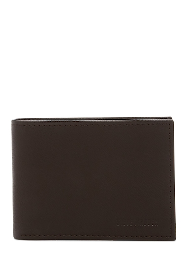Accesorii Barbati Steve Madden Smooth Grain Leather Passcase Wallet BROWN