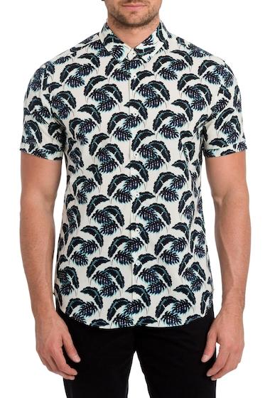 Imbracaminte Barbati 7 Diamonds Lost in Paradise Print Woven Shirt BLUE