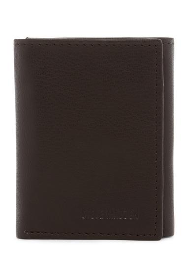 Accesorii Barbati Steve Madden Smooth Grain Leather Tri-fold Wallet BROWN