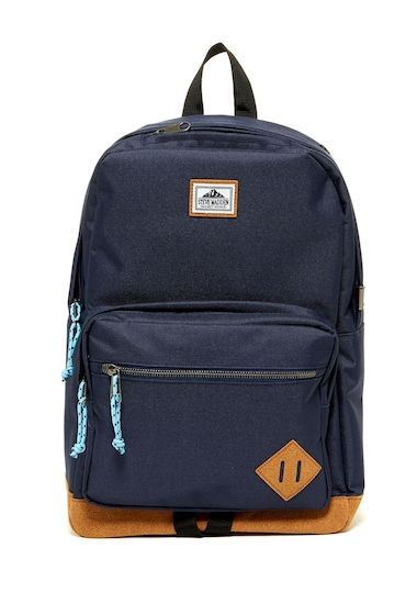 Genti Barbati Steve Madden Solid Classic Sport Backpack NAVY