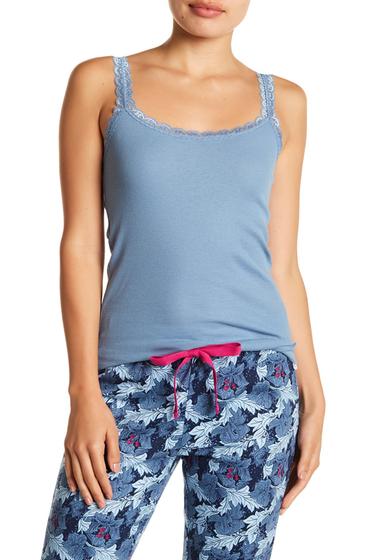 Imbracaminte Femei Joe Fresh Ribbed Lace Cami BLUE STONE