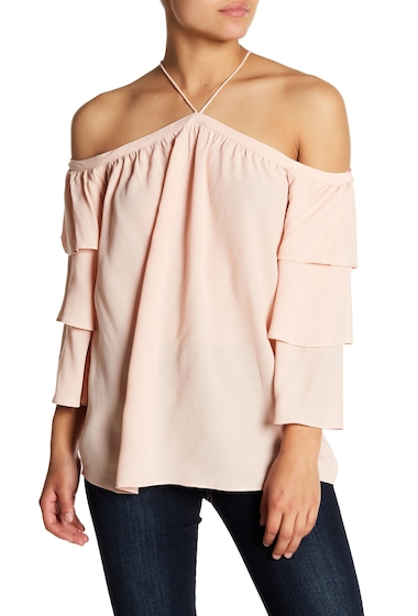 Imbracaminte Femei 1State Cold Shoulder Blouse 808-SHADOW PINK