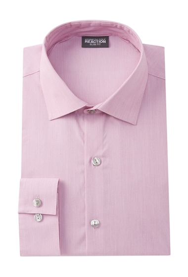 Imbracaminte Barbati Kenneth Cole Reaction Solid Slim Fit Dress Shirt PINK