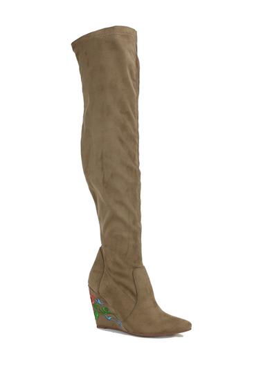 Incaltaminte Femei Nature Breeze Llana Over-the-Knee Boot TAUPE SUEDE