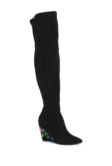 Incaltaminte Femei Nature Breeze Llana Over-the-Knee Boot BLACK SUEDE