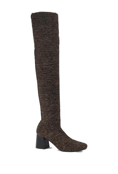 Incaltaminte Femei Nature Breeze Malibu Metallic Stretch Over-the-Knee Boot BROWN GLITTER
