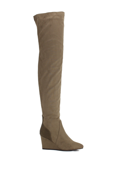Incaltaminte Femei Nature Breeze Lorrie Over-the-Knee Boot TAUPE SUEDE