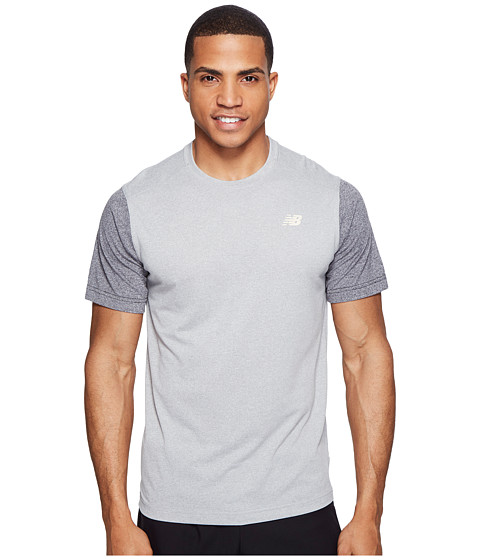 Imbracaminte Barbati New Balance Short Sleeve Heather Tech Tee Athletic GreyBlack Heather