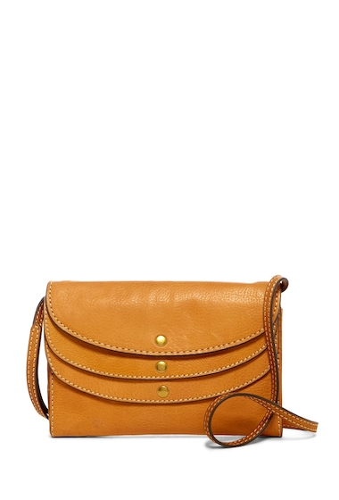 Genti Femei Frye Adeline Leather Wallet Crossbody Bag TAN