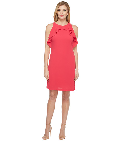 Imbracaminte Femei Jessica Simpson Solid Dress with Ruffle Neck Rose