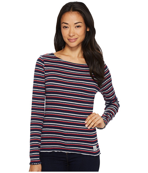 Imbracaminte Femei US Polo Assn Yarn-Dye Long Sleeve T-Shirt Evening Blue