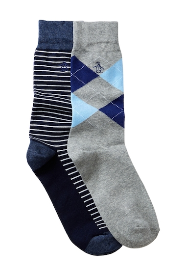 Accesorii Barbati Original Penguin Kennedy Balboa Crew Socks - Pack of 2 NAVY