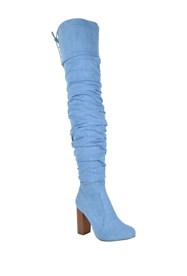 Incaltaminte Femei Chase Chloe Alba Slouchy Thigh High Boot DENIM