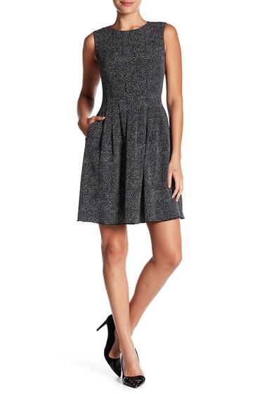 Imbracaminte Femei AK Anne Klein Dot Print Dress BLACK-WHITE