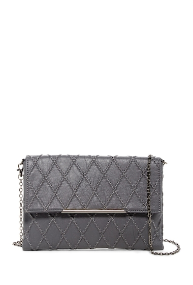 Genti Femei Urban Expressions Taurus Quilted Vegan Leather Clutch GREY