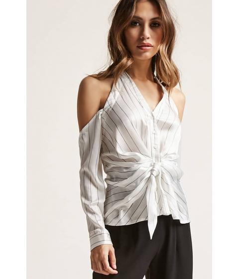 Imbracaminte Femei Forever21 Striped Open-Shoulder Top WHITE