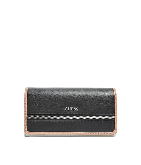 Accesorii Femei GUESS Cheerleader Color-Block Flap Wallet black multi