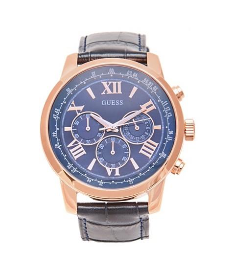 Ceasuri Barbati GUESS Blue and Rose Gold-Tone Sport Watch no color