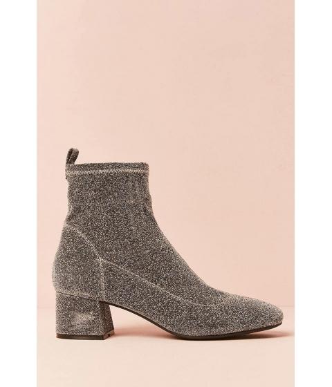 Incaltaminte Femei Forever21 Metallic Sock Boot SILVER