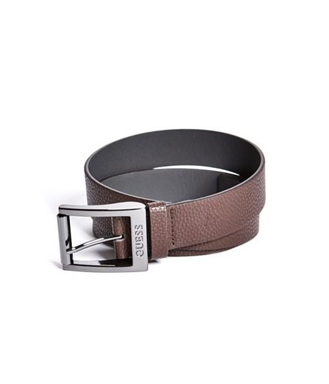 Ochelari Barbati GUESS Faux-Leather Logo Belt brown