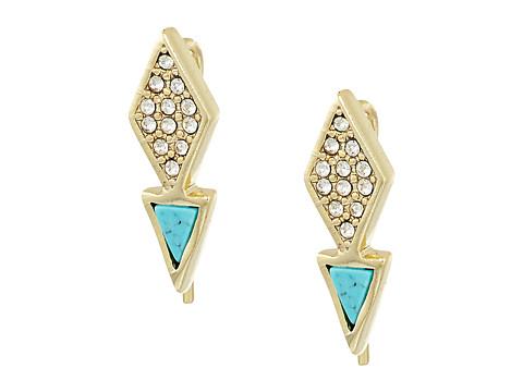 Bijuterii Femei Marc Jacobs Triangle Stud Earrings Gold Tone