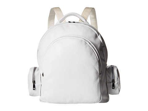 Genti Barbati Calvin Klein Leather Backpack White