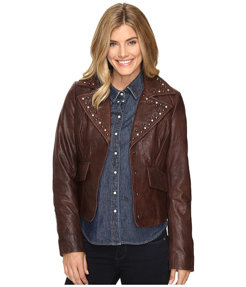 Imbracaminte Femei Liebeskind Crinkled Leather Jacket w Nailheads Brown