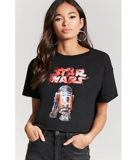 Imbracaminte Femei Forever21 Star Wars Crop Top CHARCOALWHITE